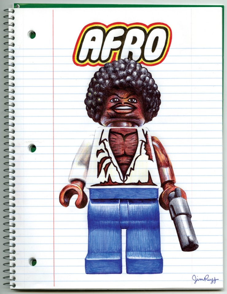 Jim Rugg Afro Notebook Drawing