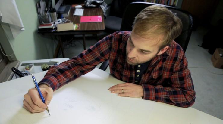 Jim Rugg at Desk