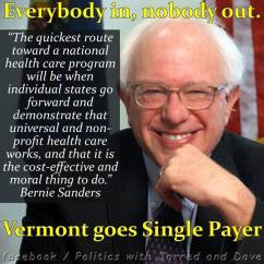 Sanders for single payer