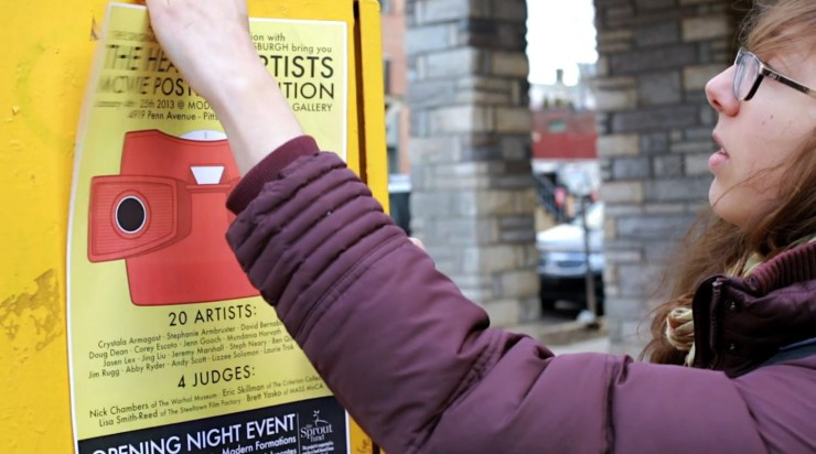Plastering the city in posters